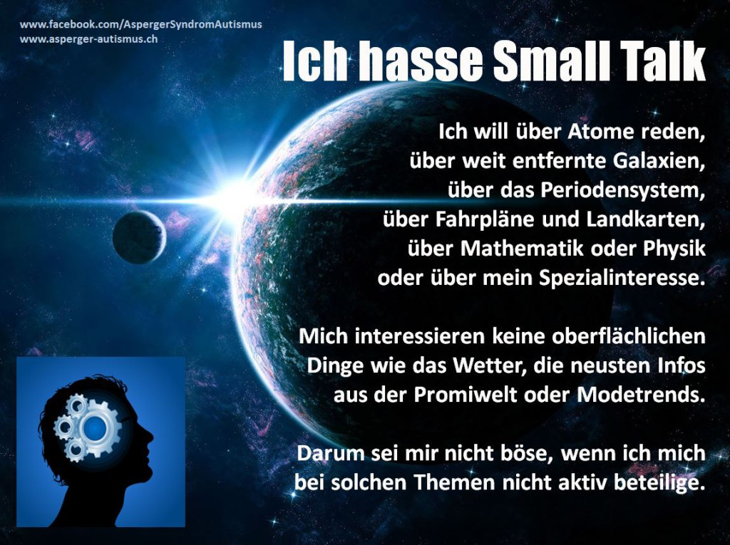 autismus: ich hasse small talk